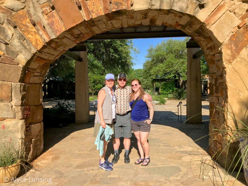L to R: myself, Joe Gass, and Emily Gass - Lady Bird Johnson Wildflower Center, May 7, 2018