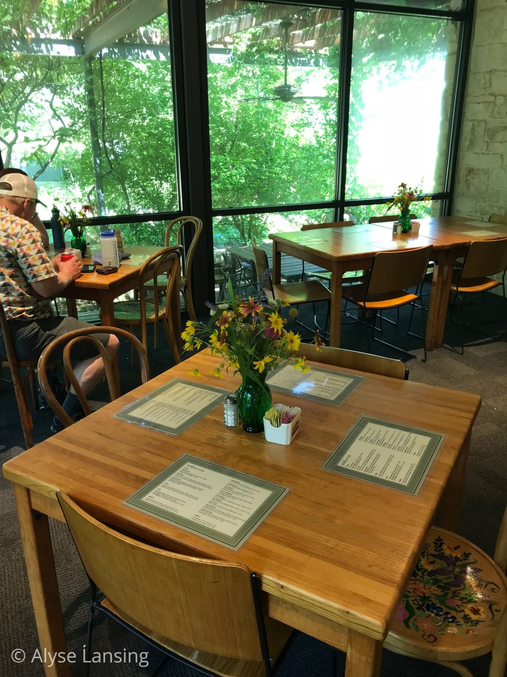 The Wildflower Cafe, our lunch spot…