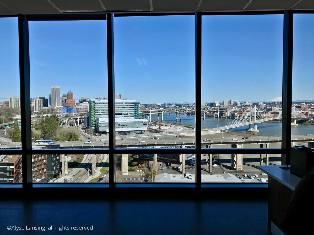 View from OHSU's Center for Health and Healing (south waterfront), 12th floor