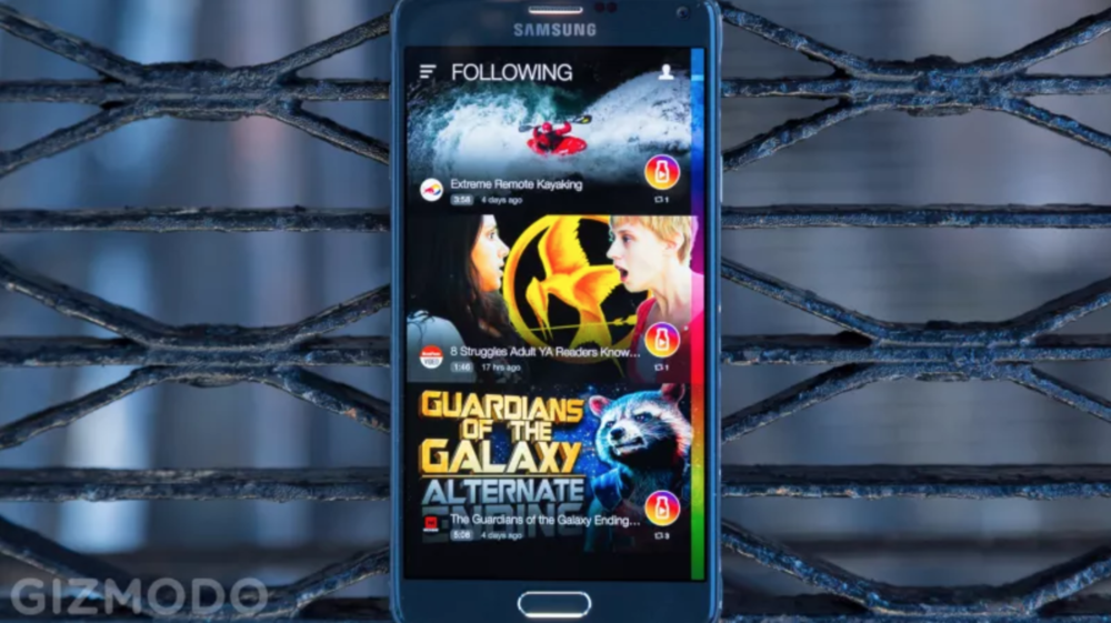 gizmodo article - Milk Video: Samsung's Beautiful New Video Hub...