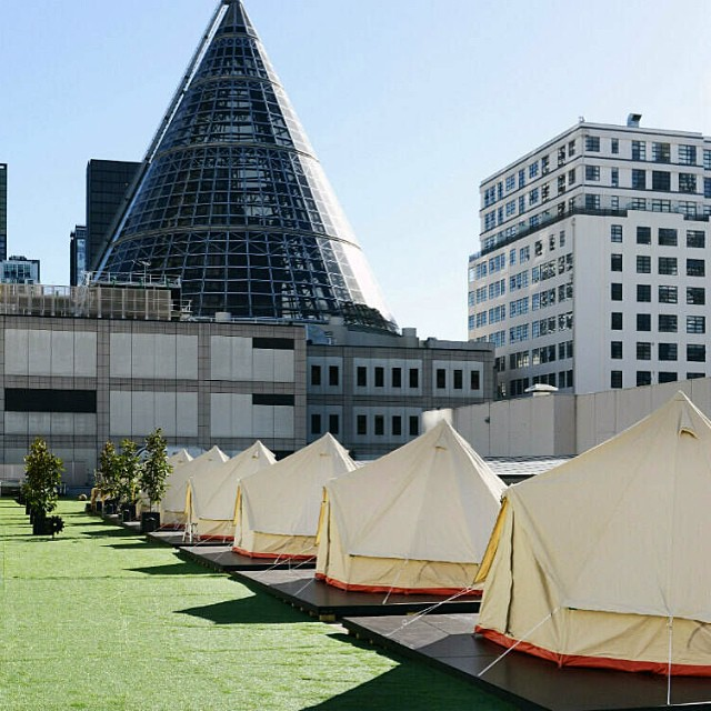 Hello Melbourne! Thank you for the fantastic meeting @stjeromesthehotel - we love working with you 👌#stjeromeshotel #luxurycamping #glamping #rooftop #hotel #fun #adventure #hospitality #melbourne #melbournecentral