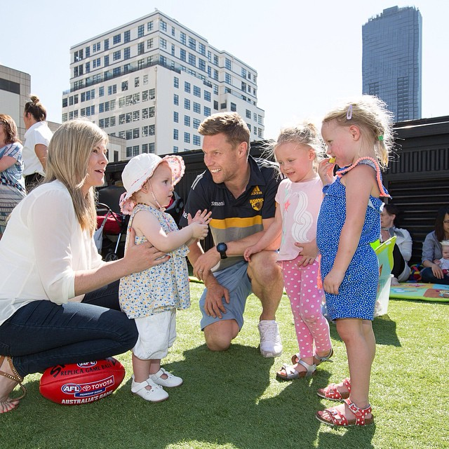 Thank you Melbourne for turning on the most spectacular weather for our beautiful event @onlyaboutchildren Such a perfect day with the fantastic Melbourne mummy bloggers and their adorable little ones. What a star Sam Mitchell is as a family man as well as AFL champion #OacMelb #SamMitchell #StJeromesHotel #Melbourneevent #ExposurePR