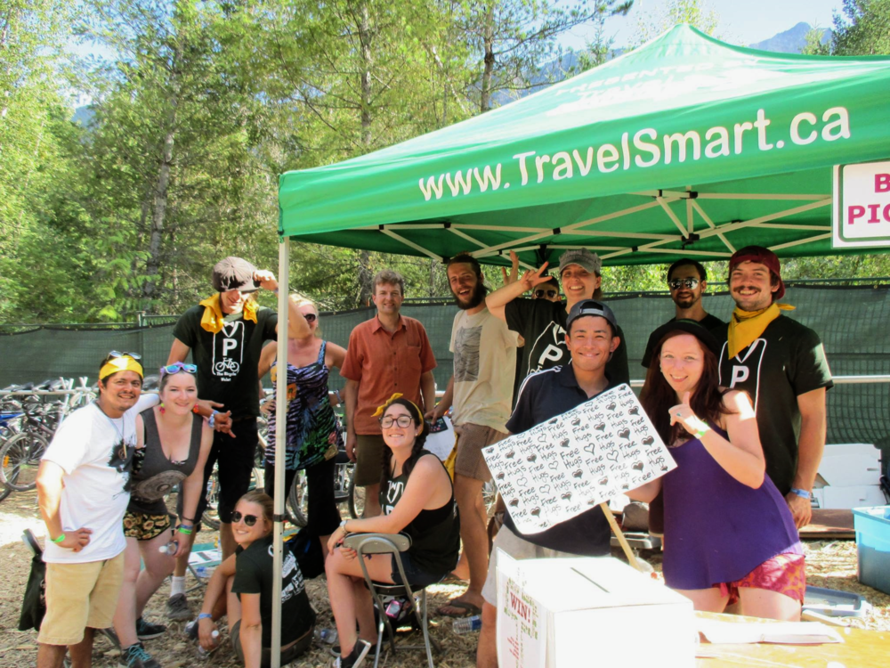 The Bicycle Valet staff and volunteers at Pemberton Music Festival