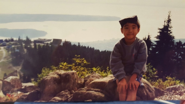 Me enjoying nature as a young child.