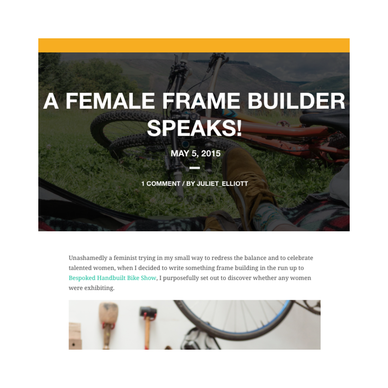 Bikes & Stuff   A Female Frame Builder Speaks
