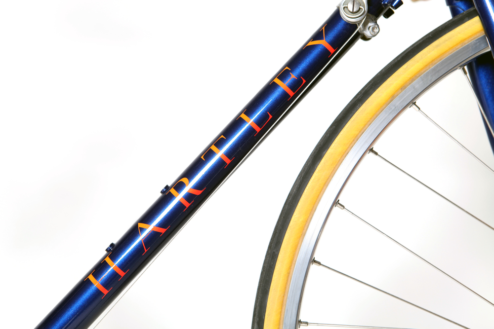 Eroica Classic hand spray painted metalic midnight blue with pearl orange and cherry red fades