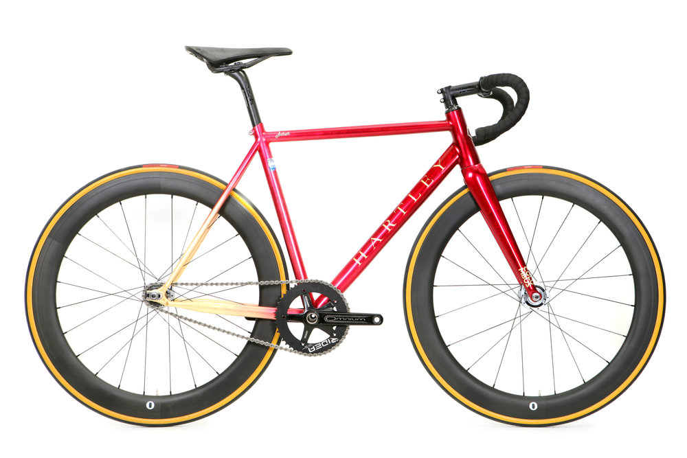 Juliet's Fiery Fixed Crit Race Bike