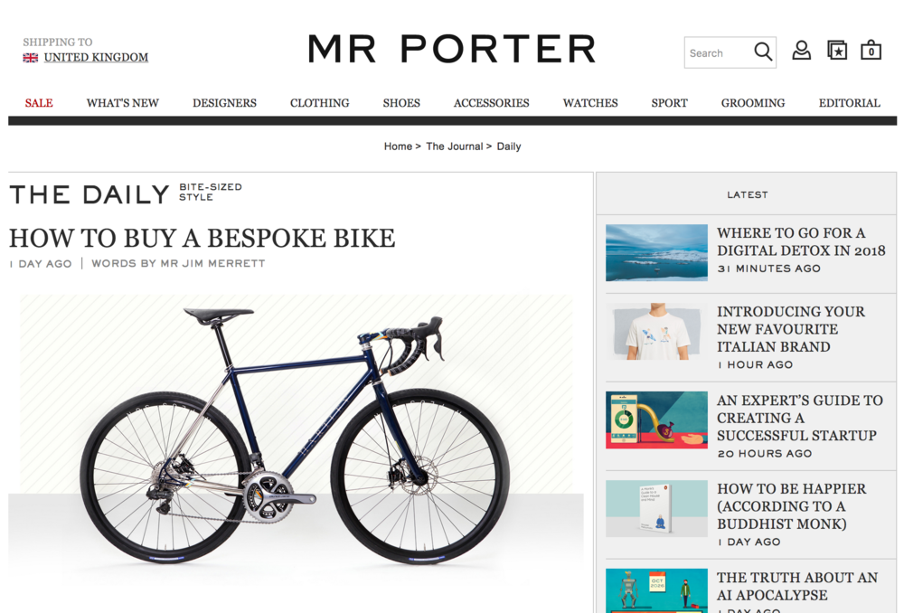 Mr Porter   How To Buy A Bespoke Bike