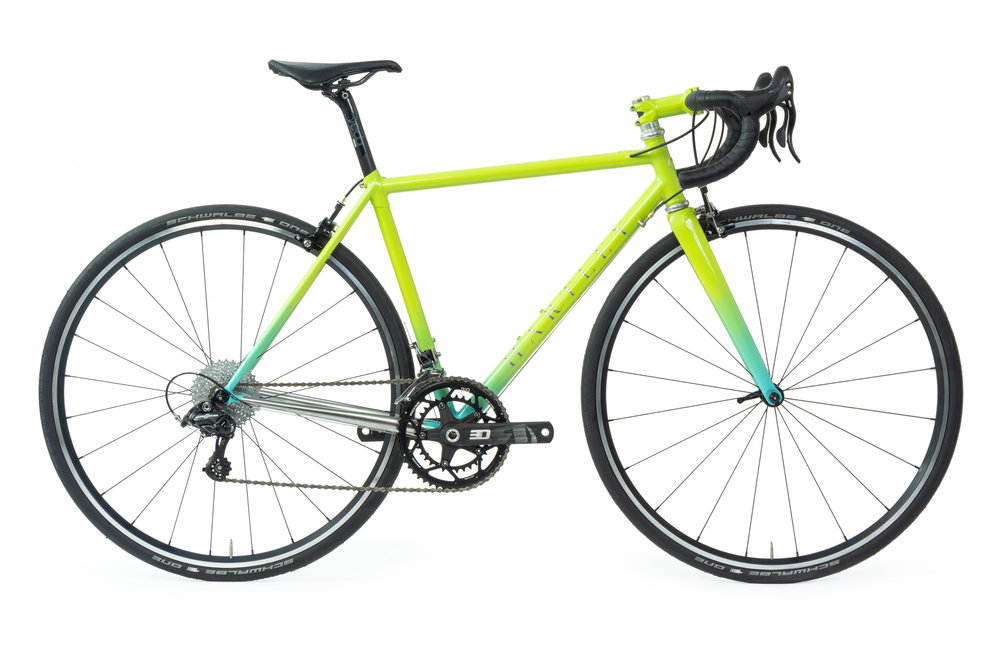 Ashley's Lime Sky Stainless Steel Road Bike