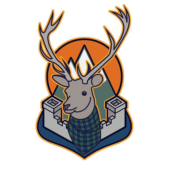 Logo I designed for ... well I can't say who exactly 😝 they're launching soon and I can't give the game away.  However I have been given permission to share the design with my followers so enjoy!  #logo #stag #tartan #scotland #castle #graphicdesign #illustration #deer #graphics #glasgow #gla