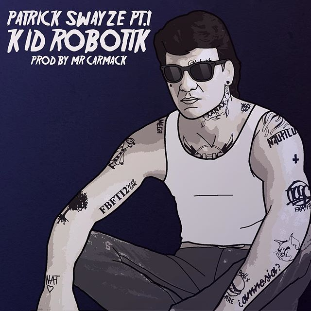 More Swayze illustration for you, this time for @kidrobotik for his latest single, Patrick Swayze pt.1  #kidrobotik #patrickswayze #soundcloudrapper #fbfti2 #swayze #internetrap #trap #soundcloudrap #internetrapper #gla #glasgow #illustration #subversion #subfriction #creatorsclass