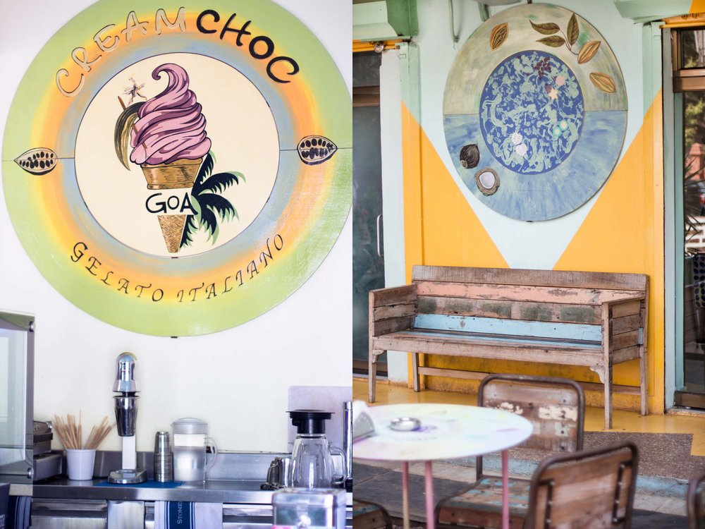 CREAMCHOC GELATERIA, GOA INDIA                                                                  CONCEPT DESIGN /ARTWORK 2014