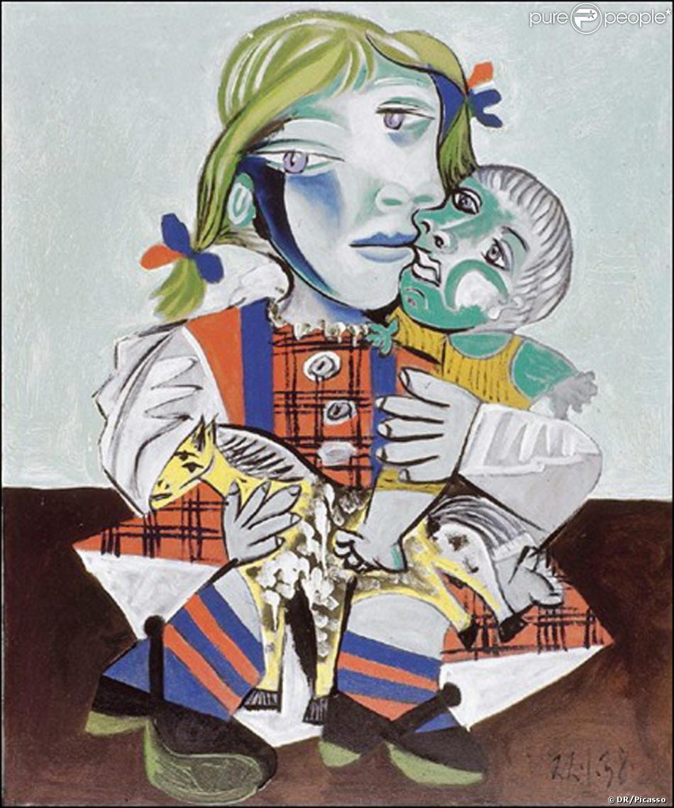 Quadro de Picasso - Maya  à la poupée - retirado do site www.purepeople.com