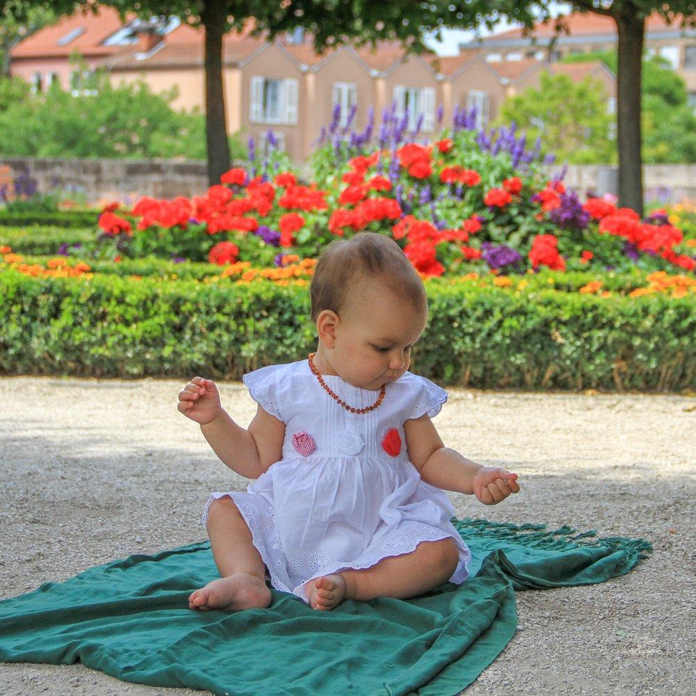 No jardim do castelo de Nuremberg, o Kaiserburg