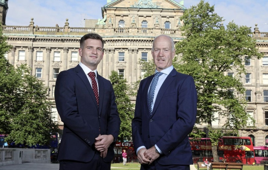 GIA Belfast Managing Partner Kevin Francis with Alan Wilson of Invest Northern Ireland