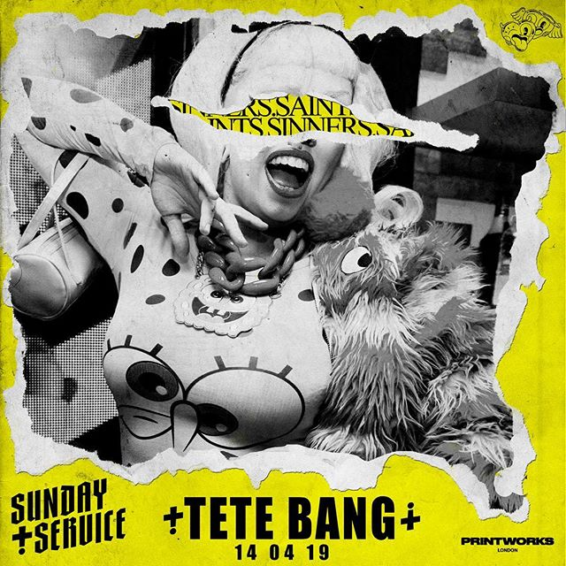 Did you know that as well as bringing incredible house legends, disco doyennes and an army of Savage queens and DJs, this Sunday see's a first for @printworkslondon too! @tete_bang is the first ever pop DJ to be playing the printhalls! What a legend! Don't miss her set from midday!