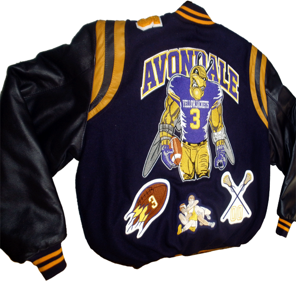AvondaleFootballPlayerBeeToughPlayerYellowJacketVarsityJacket-WrestlingPatchesLacrossepatches-GetCustomized-wb.png