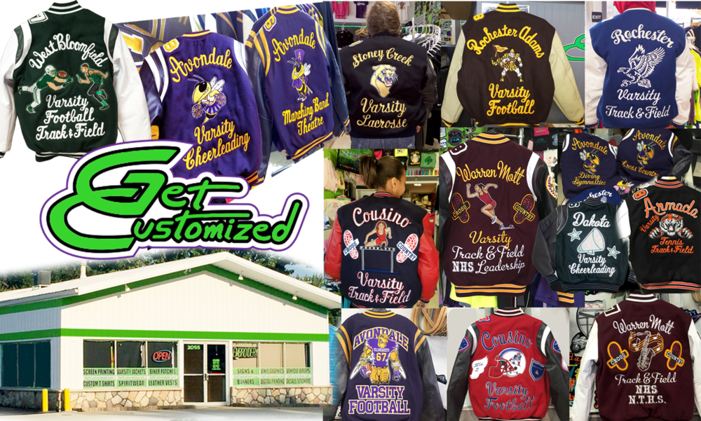 Varsity Jackets of any school.  Every Jacket is a work of Art.
