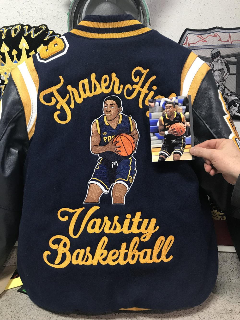 Custom Elaborate, Varsity Jacket, we can copy you.