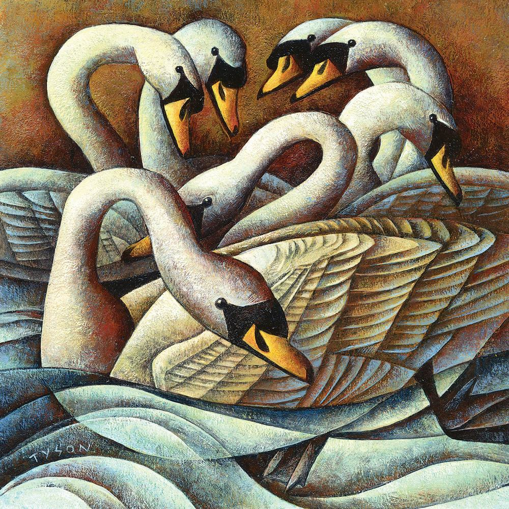 Seven Swans-A-Swimming