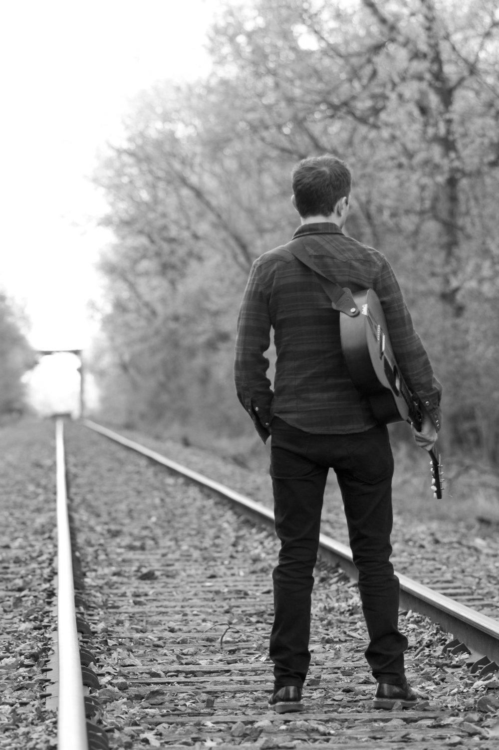 James looks down the tracks (photo by Stephen Davila).jpg