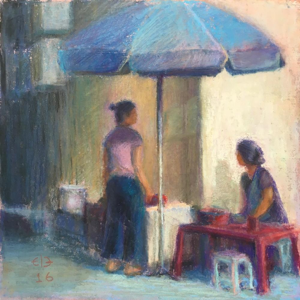 "Hanoi Sunday (2016, 12""H x 12""W)"