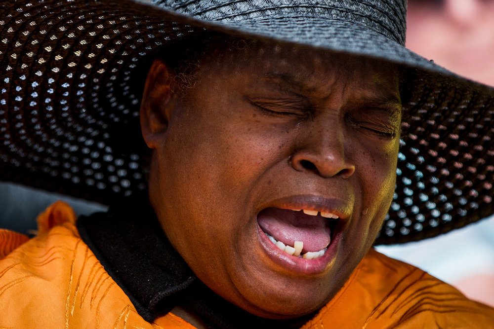 """Tears roll down Damira Penny's cheeks as she talks about her daily medications, many of which she is able to afford because of the Affordable Care Act, during a rally marking the beginning of a 24-hour vigil outside the office of Pennsylvania Republican Senator Pat Toomey on Thursday, June 22, 2017, in Pittsburgh. """"No one should ever have to choose between their medications and food,"""" said Penny, who has had to make that choice in the past."""