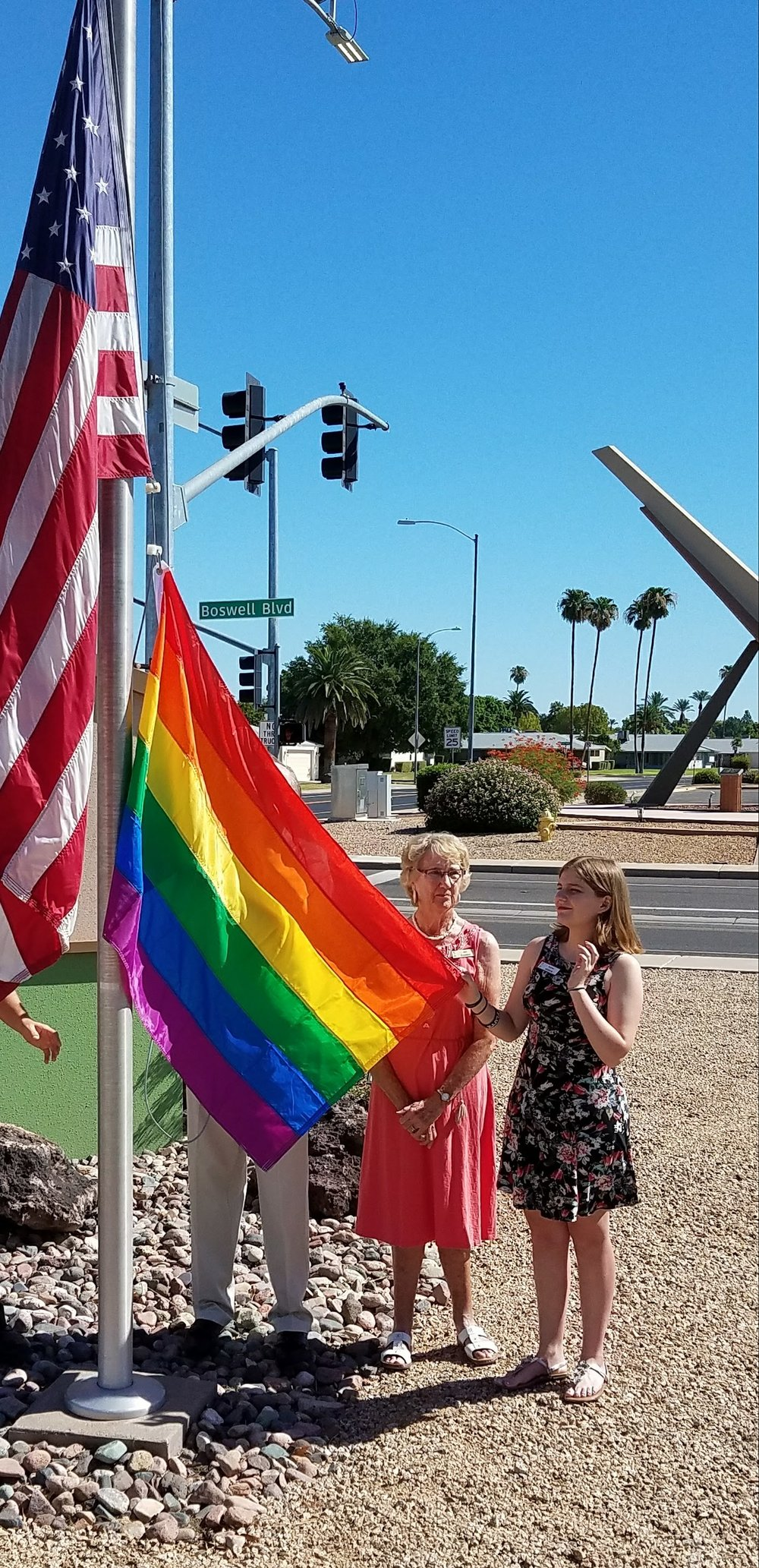 palms rainbow flag