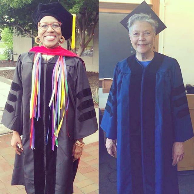 Congratulations, Rev. Dr. Alberta Wallace and Rev. Dr. Delle McCormick# . . #congrats #graduation #revdr