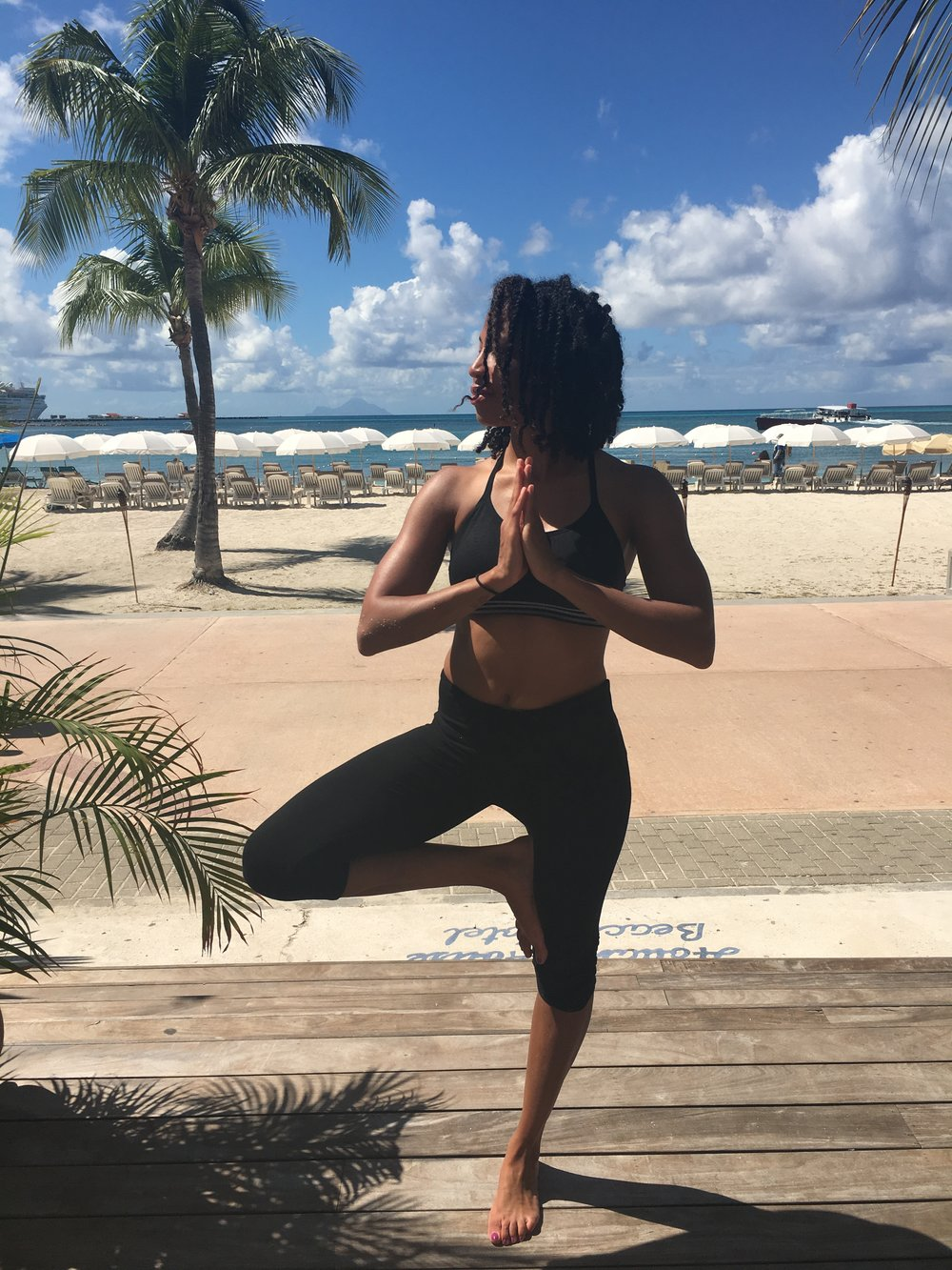 "Nailah S. - Brooklyn, NY/Chicago, IL | St Maarten Oct 2016 Rejuvenated:Centered:Motivated ""I decided to do this retreat at a time in my life where the way I had been operating in my life and career wasn't working.  The was the perfect way to shake of that burnt out feeling, get centered in my mind, body, and should, and leave with a sense of possibility to create the life I want.  Nicole + Marisa are so attentive and fun travel buddies.  Celeste was such a great instructor incorporating the right balance of physical challenge and breathe.  I'm forever grateful."""