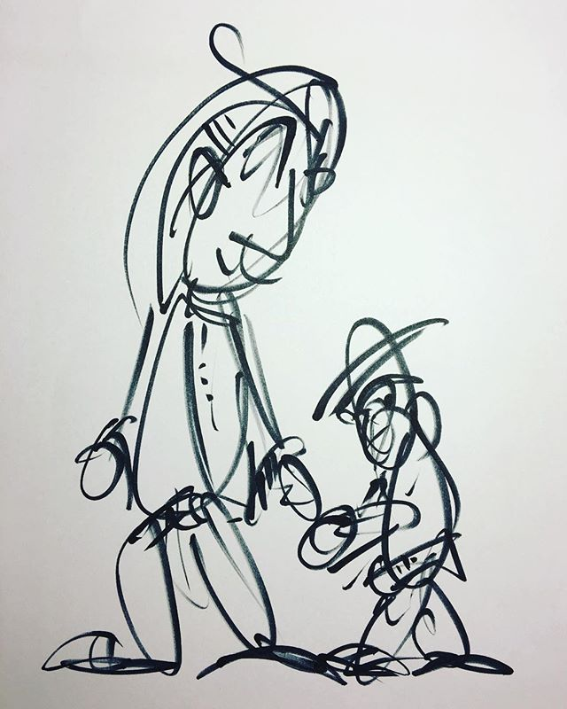 Partner #drawing #art #lineart #blackandwhite #hands #belt #monkey #hat