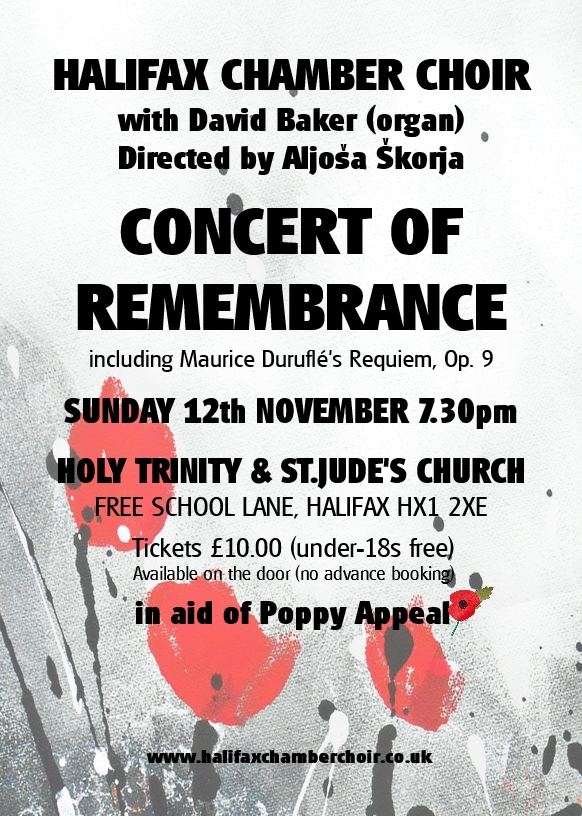 Remembrance concert 2017 HCC leaflet