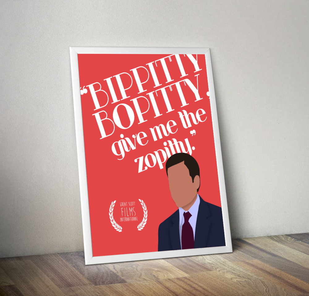 "The Office ""Bippitty Bopitty"" Print"