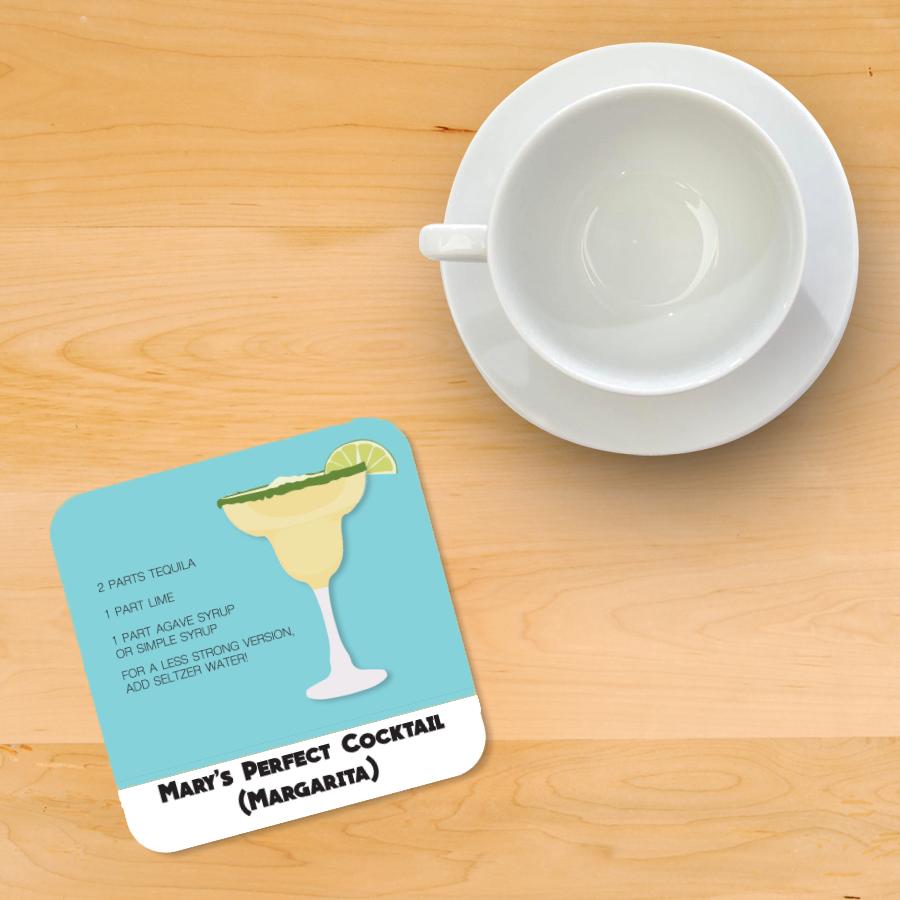 Margarita Recipe Coaster