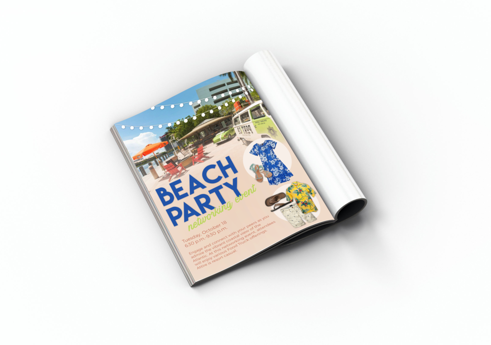 CBORD's 2016 User Group Conference Program Guide Advertisement- Beach Party Event