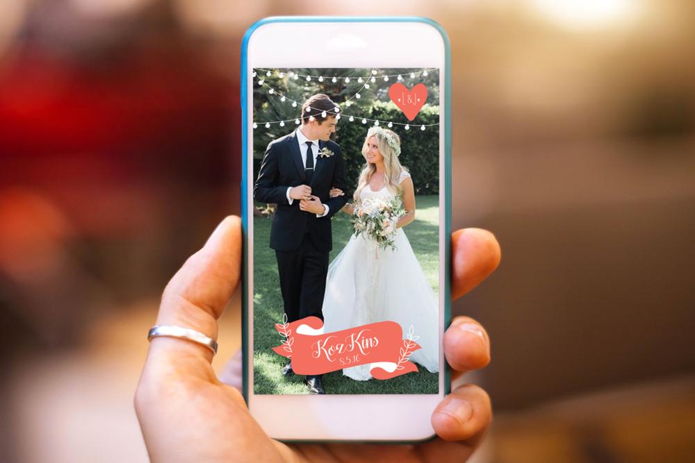 KozKins Wedding Snapchat Geofilter, 8.5.16