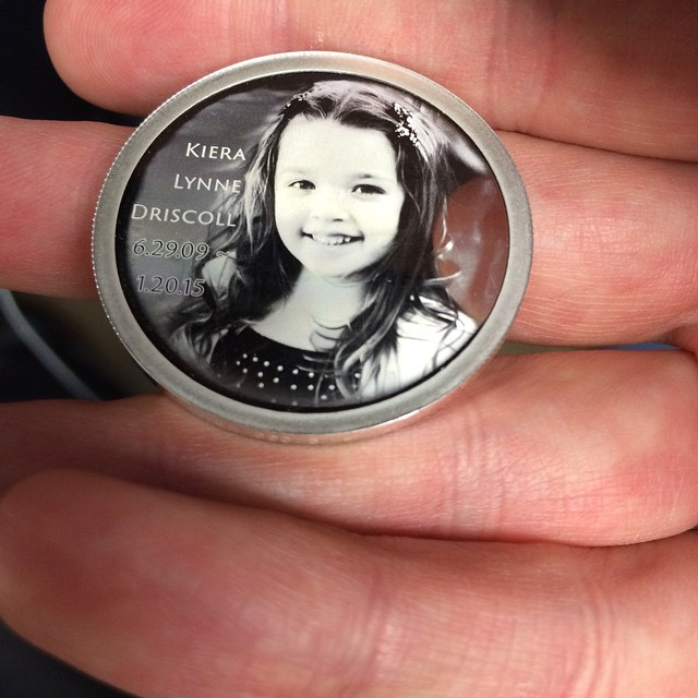 Kiera's coins came in today. I think they are perfect.