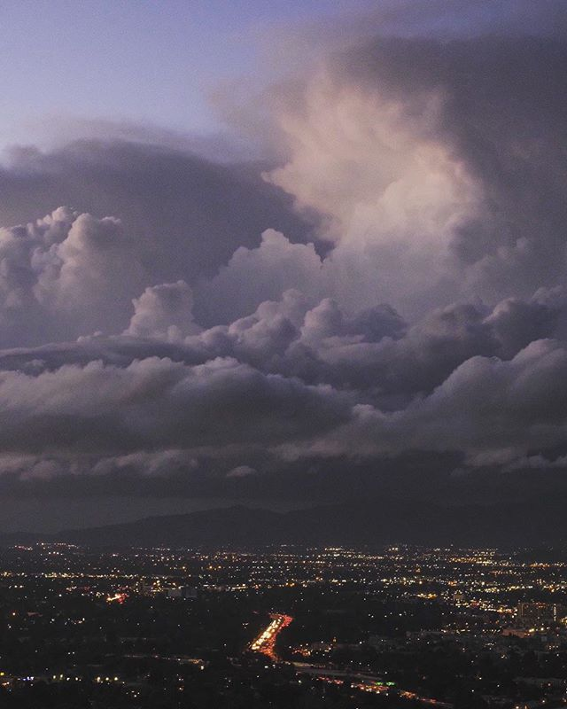 Another shot of the unbelievable clouds I encountered over the San Fernando Valley on Monday evening.