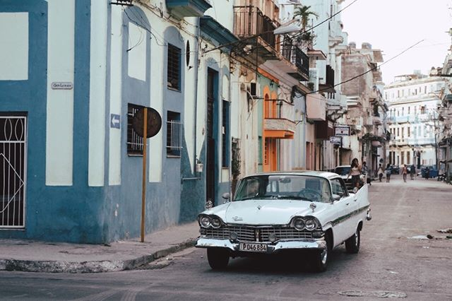 Walking down San Lazaro Street in Centro Habana.