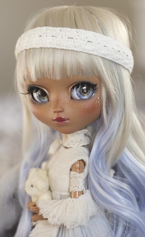 blue raspberry milkshake. custom pullip by yummy sweets dolls
