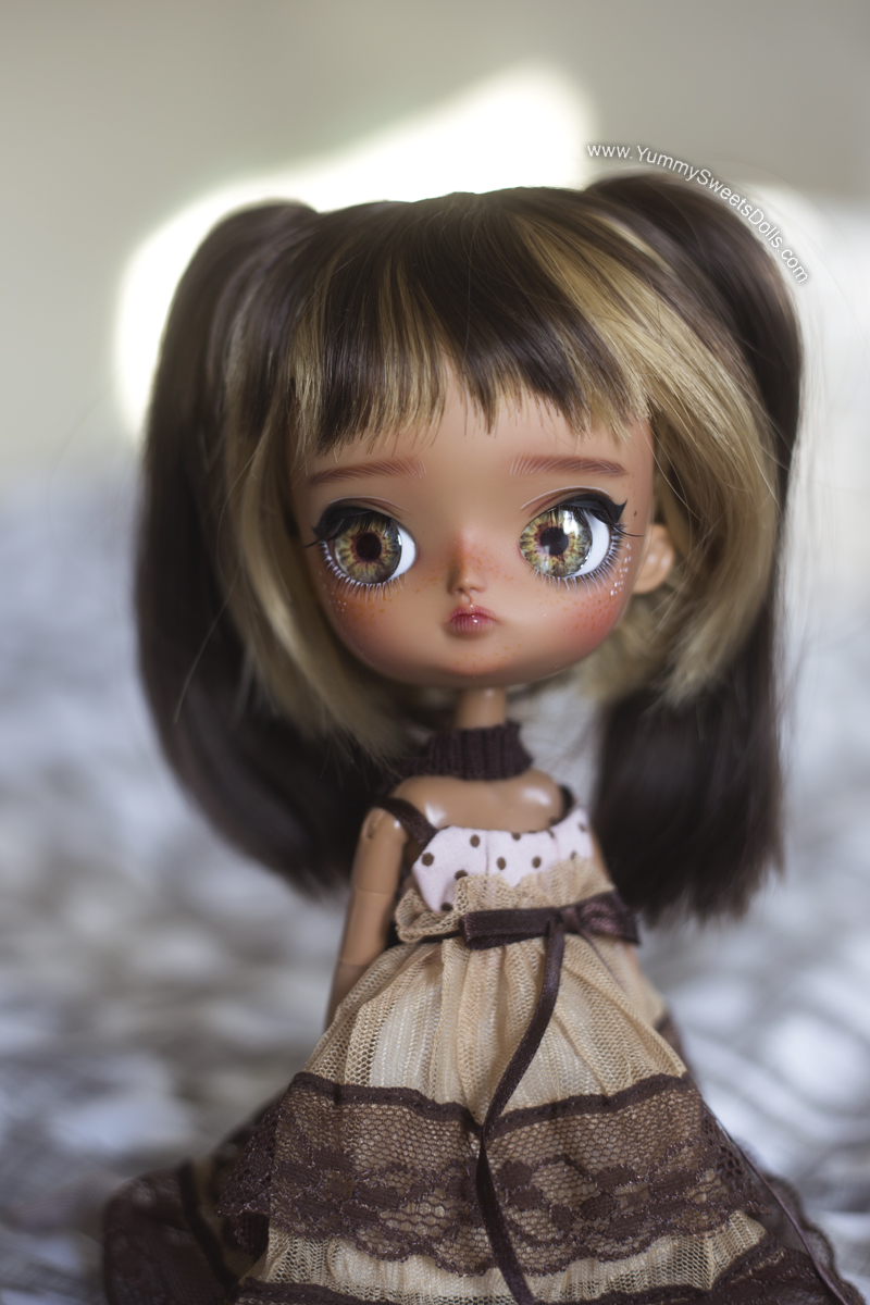 Chocolate Covered Peanut custom Pullip Dal by Yummy Sweets Dolls, Connie Bees