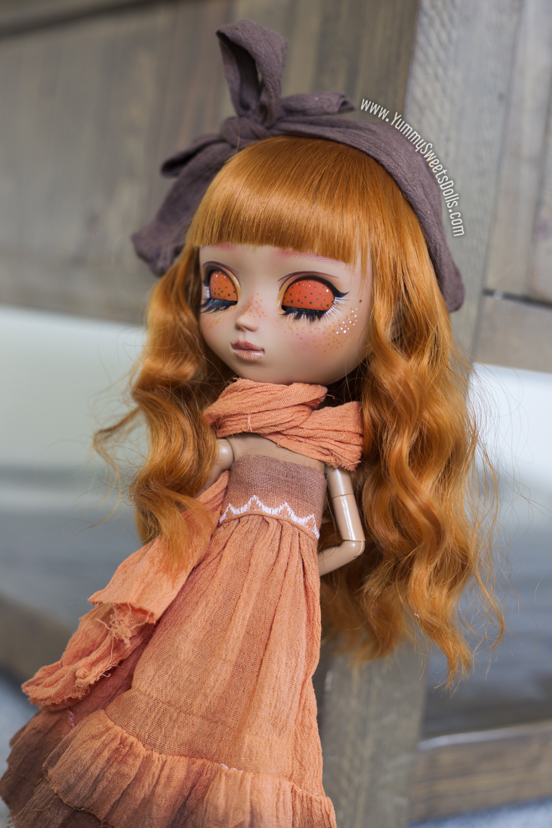 Custom Pullip doll Pumpkin by Yummy Sweets Dolls, Connie Bees