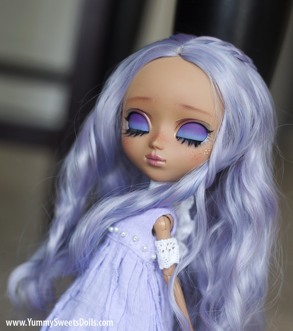 Blueberry Milkshake full custom Pullip doll by Yummy Sweets Dolls, Connie Bees