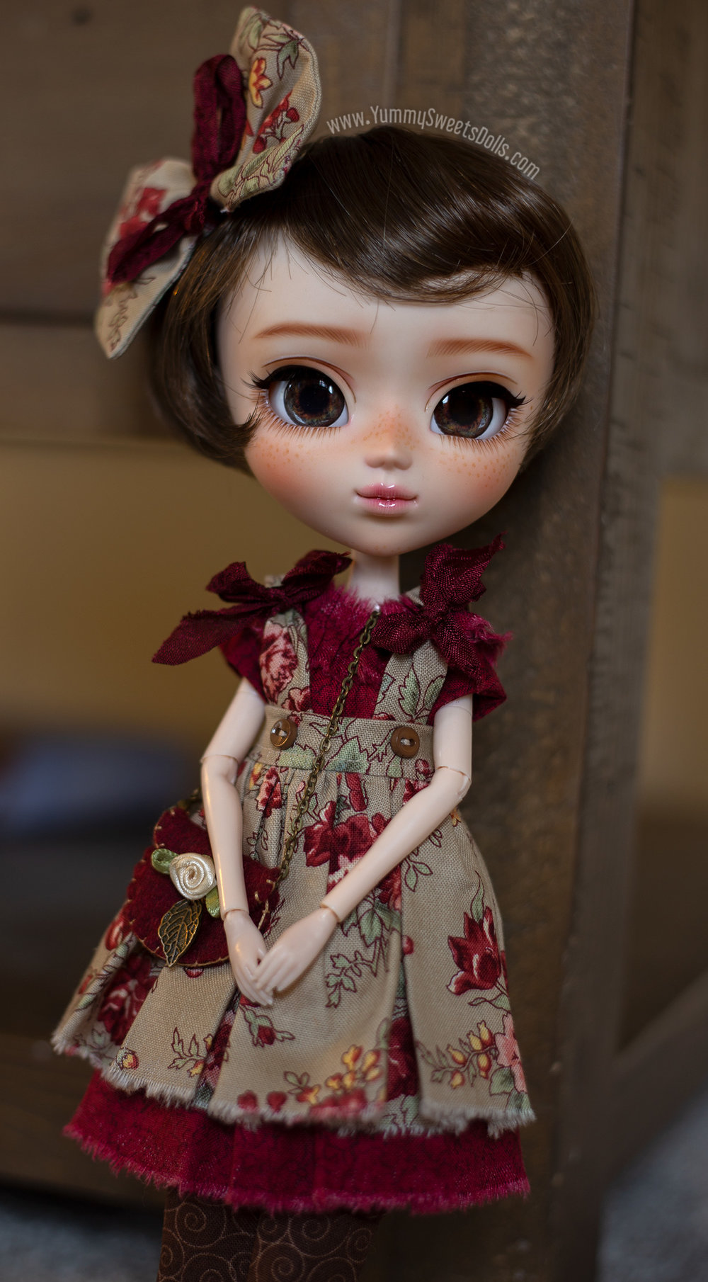 Fall 2018 Nature Girls Autumn Rose, full custom Pullip doll by Yummy Sweets Dolls, Connie Bees for charity