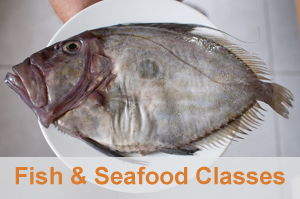 FISH & SEAFOOD CLASSES - No need to be afraid of fish. We'll assist you in create the perfect fish stock, bouillabaisse and other Mediterranean fish recipes in a very hands-on French cooking class experience. No time for a market tour here, you'll be too busy being a fish pro. I'M INTERESTED