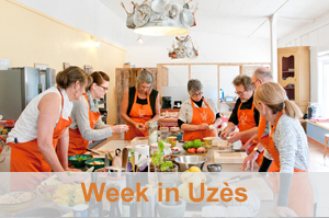 WEEK LONG COOKING PROGRAM - 5-days of intensive cooking, baking and degustation. Hands-on French cooking experience. Explore local markets, visit producers, and partake in a one-of-a-kind learning experience. All skill levels welcome. Accommodations included. FIND OUT MORE