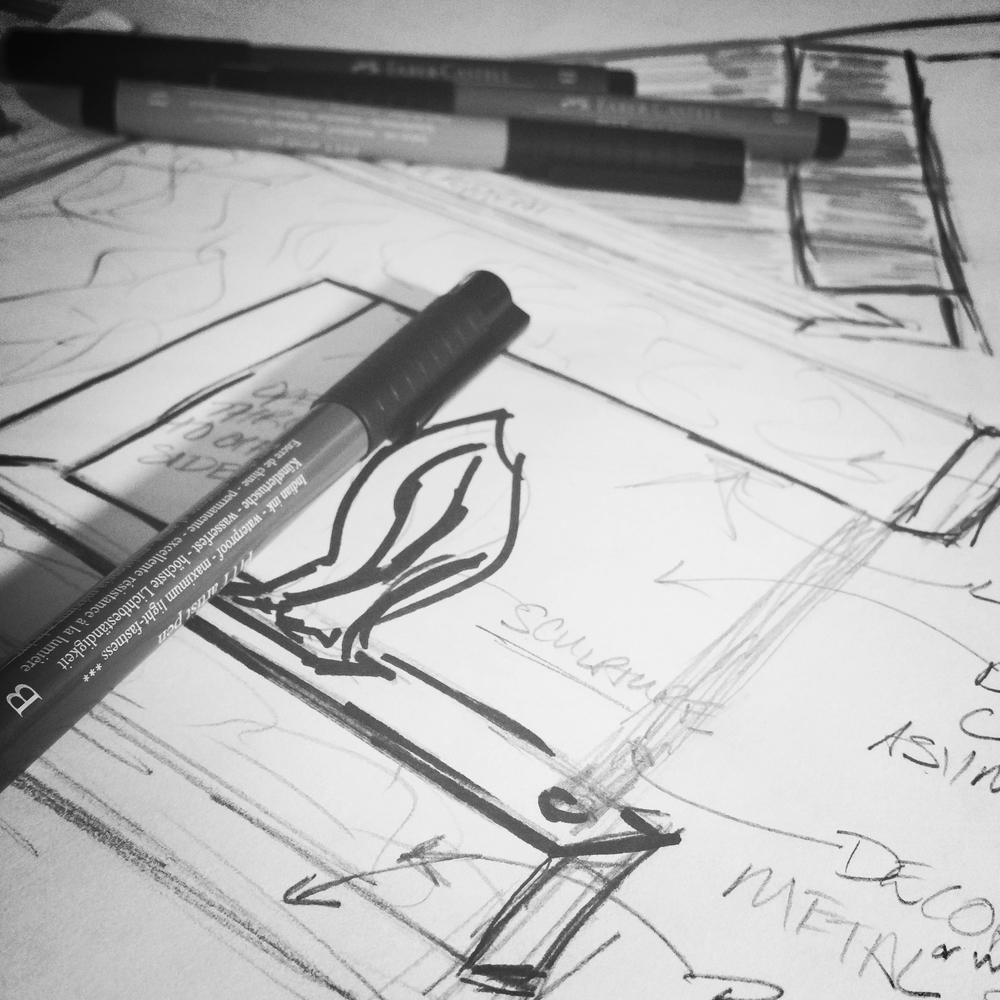 design concept sketch - marilyn ashley design associates