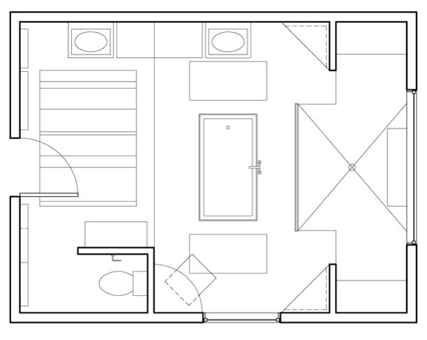 """""""A Modern Cottage"""" - Floor Plan"""