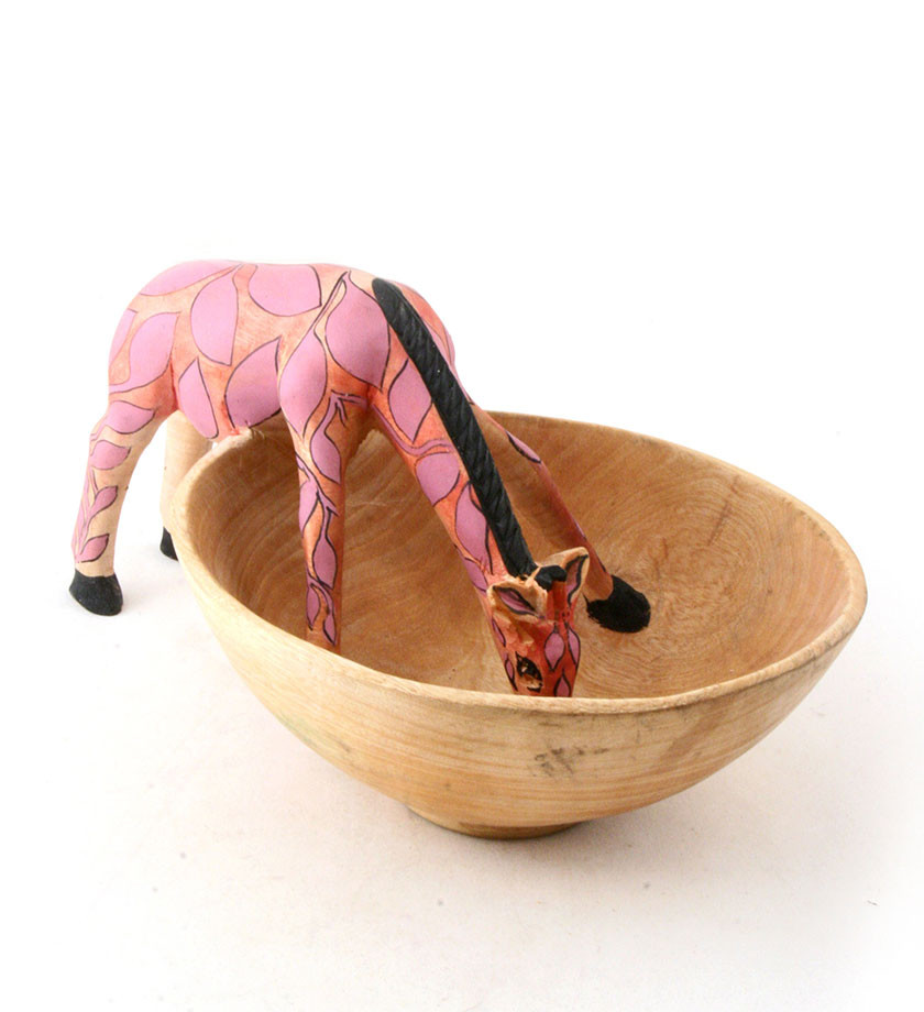 Hand-crafted Giraffe Bowl - Marilyn Ashley Design