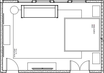 Floor Plan - Master Bedroom Design - Marilyn Ashley Design Assc.
